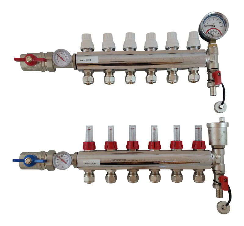 New Underfloor Heating Manifold With A Rated Pump Blender