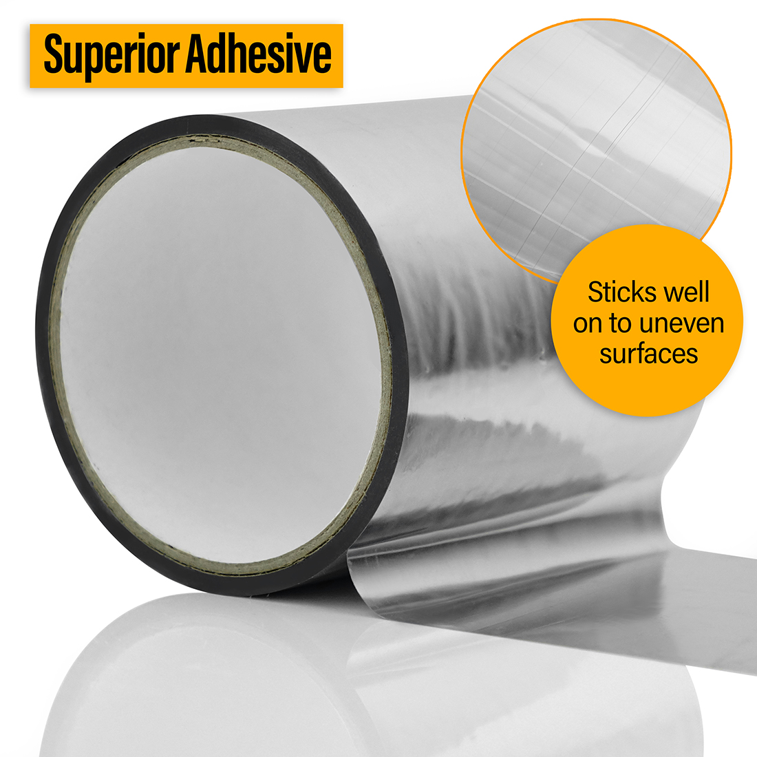 Superfoil Met Poly Foil Tape Roll 100mm X 20m High