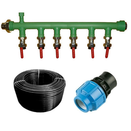 Port manifold hdpe mdpe pipe kit for ground source heat