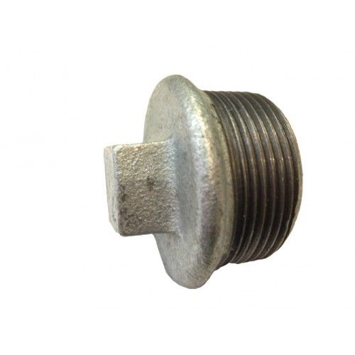 Galvanised iron end caps and plugs threaded connection