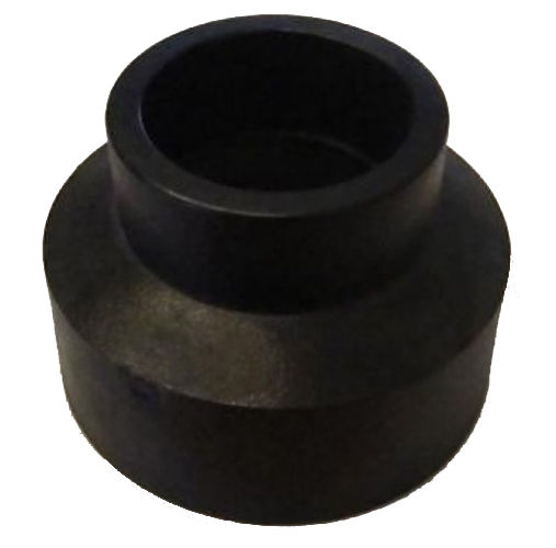 Hdpe mdpe fusion weld straight reducing pipe connector