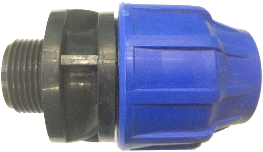 Hdpe mdpe compression to bsp threaded adapter pipe
