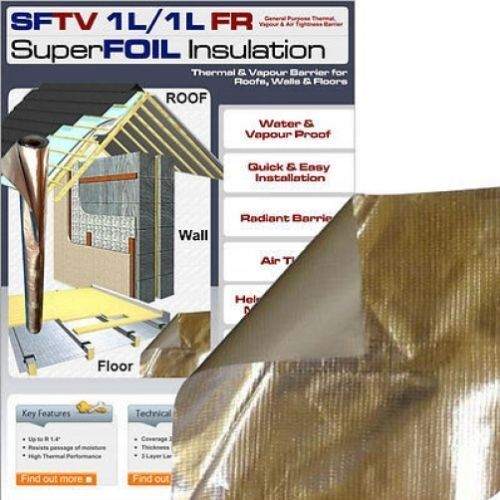 24sqm Roll Of Sftv 1l Foil Thermal Reflective Vapour
