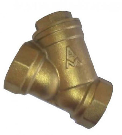 3//4 Inch to 3 Inches Brass Inline Y Strainer Mesh Filter Threaded Connection